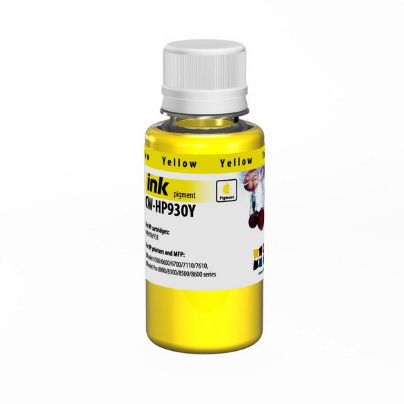 Чернила ColorWay HP 932 Pigm. 100ml yellow HP930Y