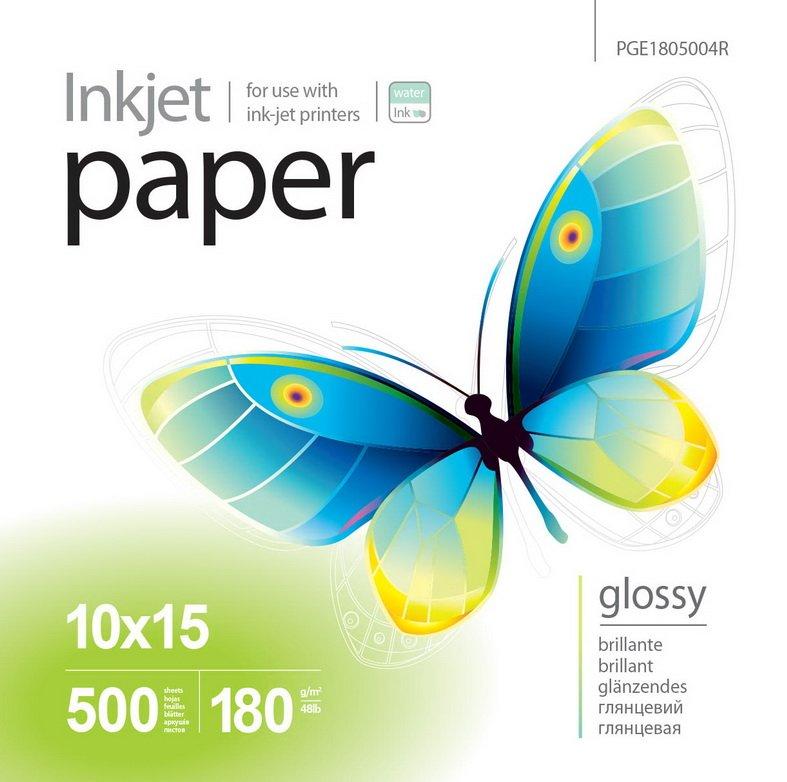 Бумага PrintPro глянцевая 180г/м, 10x15 PG180-500
