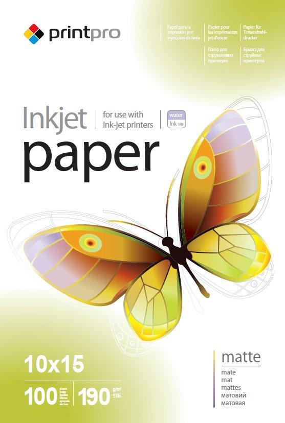OEM Бумага PrintPro мат. 190г/м, 10x15 PME190-100