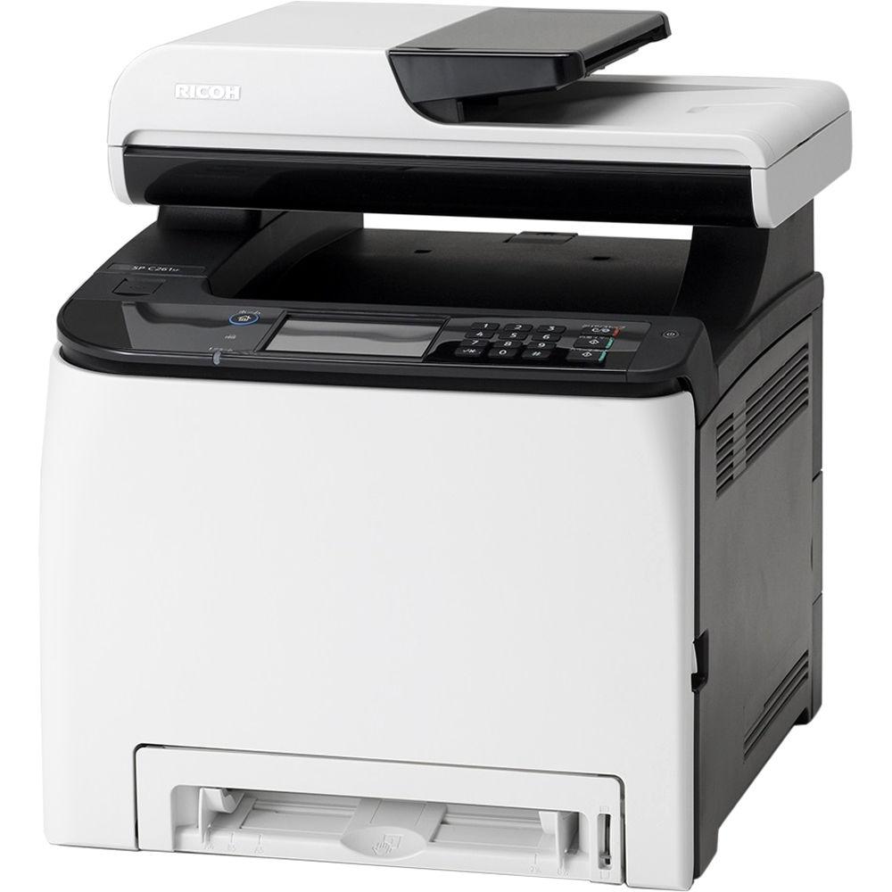 Ricoh SP C261SFNw, 20 стр. /мин., полноцветный сетевой принтер, копир, сканер, факс, ADF, дуплекс